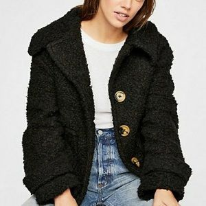 Free People So Soft Cozy Peacoat XS